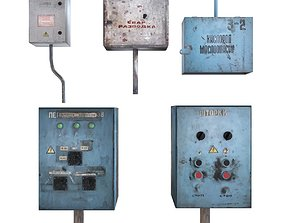 3D model Panel boxes electrical and oxygen