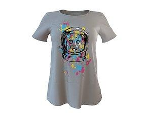 Stylish Designer Women Graphic T Shirt 3D