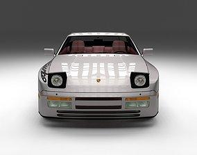 Porsche 944 Turbo S with interior 3D