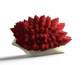 Hedgehog cake 3D model