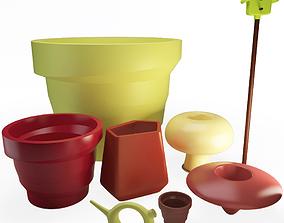 3D model Plastic Outdoor Pots Accessories