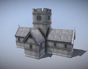 3D model Medieval English Church