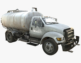 Water Truck Game Ready PBR Textures 3D model