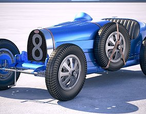 Bugatti Type 35 1925-1929 VRAY 3D model