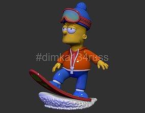 3D printable model simpsons bart skateboard