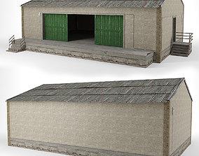 battlefield 3D asset VR / AR ready Old building