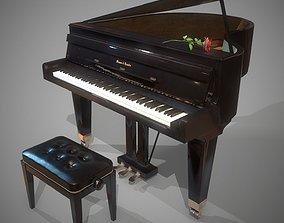 Grand piano Mason Hamlin 3D asset game-ready