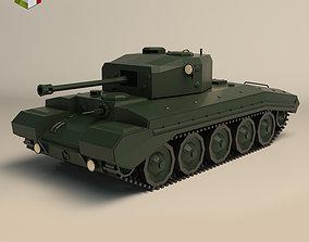 Low Poly Tank 01 3D model