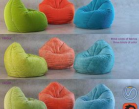 3D Bean Bag chair Wayfair 3dmodel