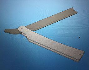 Sweeney Todd Cut Throat Straight Razor 3D printable model