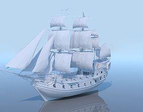 Galeon ship 3D model