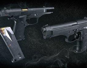 Beretta 92F 3D asset