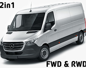 3D Mercedes Sprinter 2018 standard roof