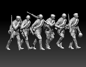 3D print model war soldiers ussr