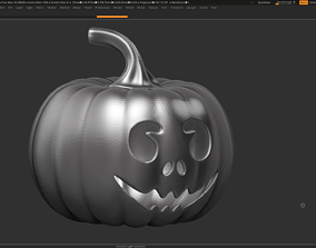 3D printable model halloween pumpkin 06