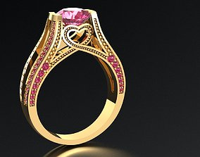 time 3d jewelry ring