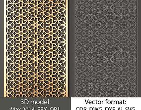 decorative panel 145 3d model and vector format