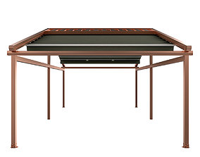 Motorized Pergola 5a copper matte 3D