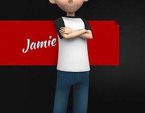 3D model Jamie Toon Kid Character