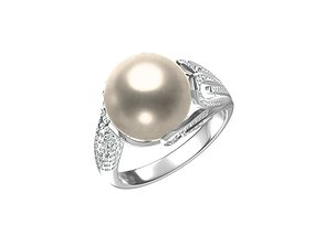 3D printable model Pearl RIng CYZZJZ-1