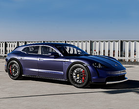 3D Porsche Taycan Turbo S Cross Turismo