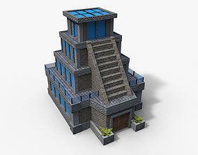 Cartoon Temple 3D asset