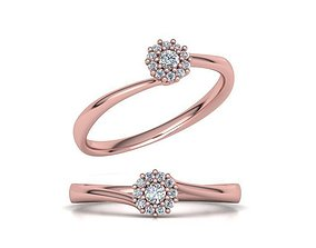 Engagement ring Own design Paradise 3D printable model 3