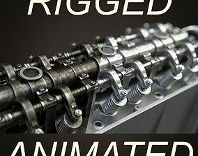 animated Engine rigged animated model
