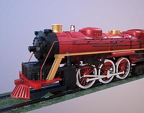 3D model Steam Engine Train Wagon