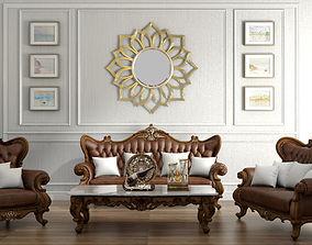 livingroom classical sofa set 1 3D model