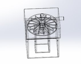 Simple Radial Blower Assembly For 3D print model 1