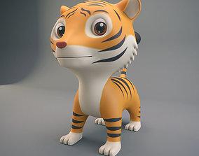 Cartoon Tiger 3D asset