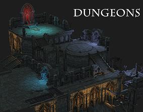 mmorpg 3D model dungeons castle alcazar barbacan