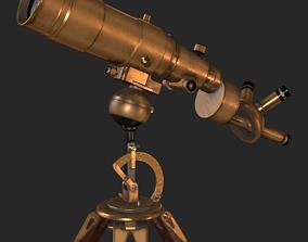 Old Antique Telescope PBR 3D asset