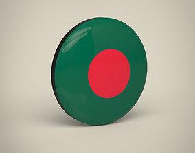 Bangladesh badge 3D model