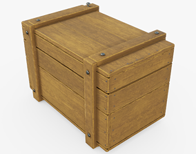 3D model game-ready PBR Wooden Crate