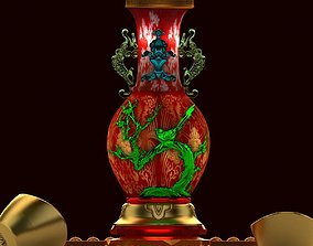 3D model Chinese vase with Yuanbao