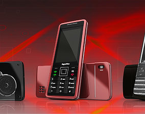 3D asset old 3 different mobile phone