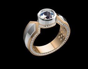 3D print model MGold003 - Ring 1 carat