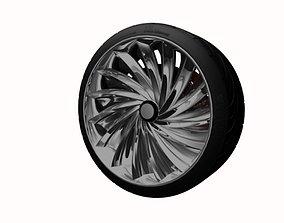 concept wheel chrome 3D model