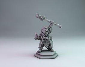 3D printable model 28mm Dwarf wizard