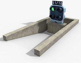 Railway Dwarf Traffic Light 3D asset