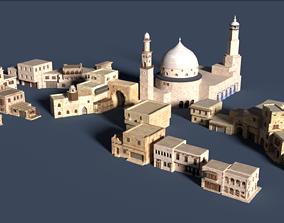 3D asset ancient arabian buildings