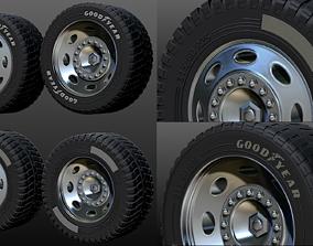 truck rim tires STL file two versions 3D printable model 2