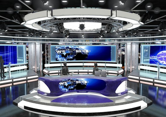 Television news studio designs