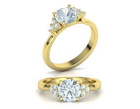 Paradise Engagement ring Many sizes 3D print