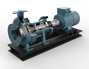 Centrifugal Pump with AC motor 3D model