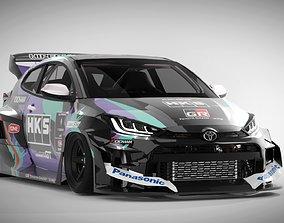 3D asset 2021 Toyota GR Yaris Rocket Bunny - HKS