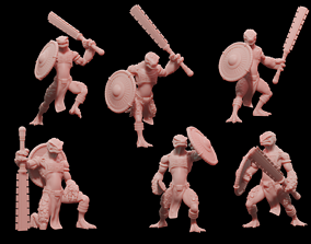 Lizardmen Guardians 3D print model lizardmen