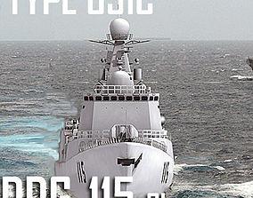 Chinese Navy Type 051C Luzhou Class DDG-115 3D asset 2